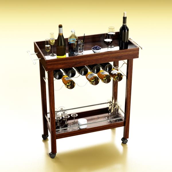 wine table rack 1 3d model 3ds max fbx obj 146574