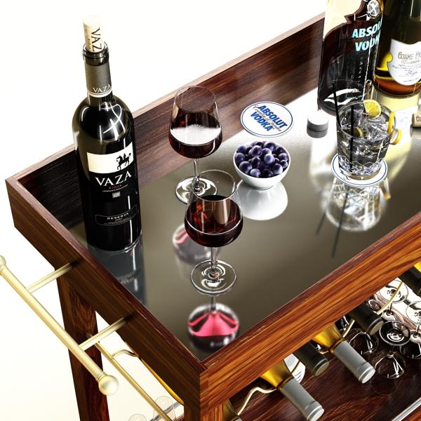 wine table rack 1 3d model 3ds max fbx obj 146575