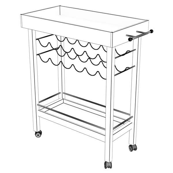 wine table rack 1 3d model 3ds max fbx obj 146576