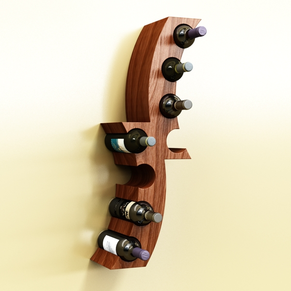 wine bottle rack 1 3d model 3ds max fbx obj 145763