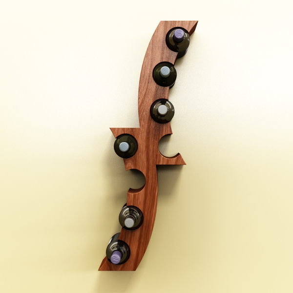 wine bottle rack 1 3d model 3ds max fbx obj 145764
