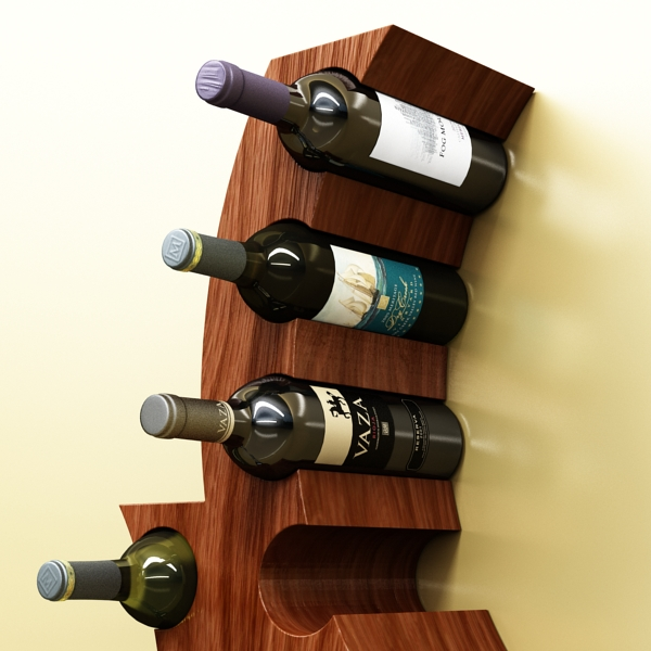 wine bottle rack 1 3d model 3ds max fbx obj 145765