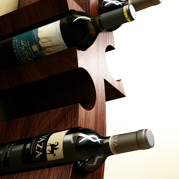 wine bottle rack 1 3d model 3ds max fbx obj 145766