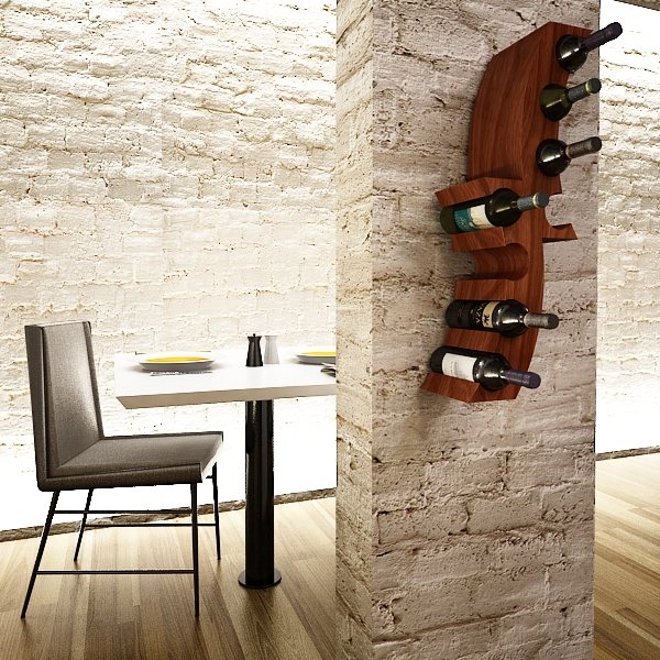 wine bottle rack 1 3d model 3ds max fbx obj 145767