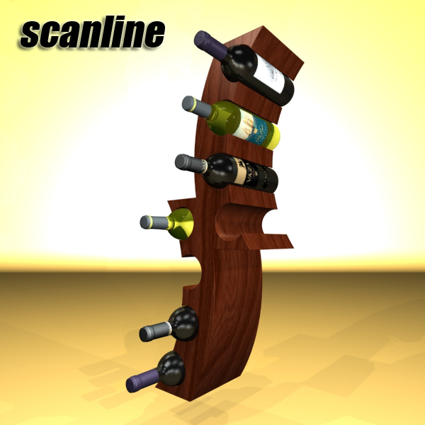 wine bottle rack 1 3d model 3ds max fbx obj 145768