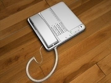 home office phone 3d model 3ds c4d texture 109132