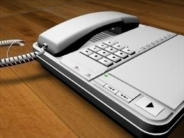 home office phone 3d model 3ds c4d texture 109133