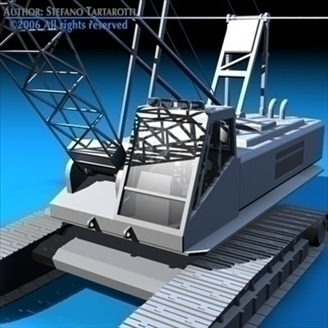 crane 3d model 3ds dxf c4d obj 82203