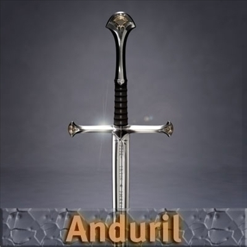 anduril sword 3d model 3ds dxf fbx c4d x obj 104698