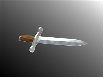 dagger 3d model 3ds fbx mješavina hrc xsi obj 103593