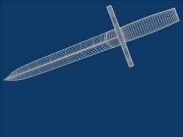 dagger 3d model 3ds fbx mješavina hrc xsi obj 103597