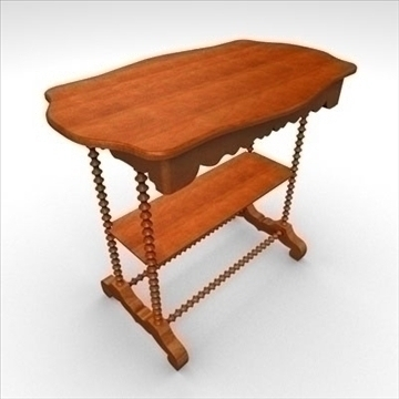 antique-table2 3d model 3ds dxf fbx c4d obj 85429