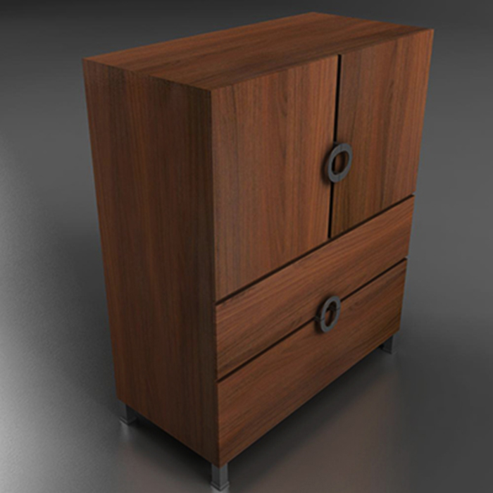 armoire cabinet 3d model 3ds max fbx ma mb obj 155998