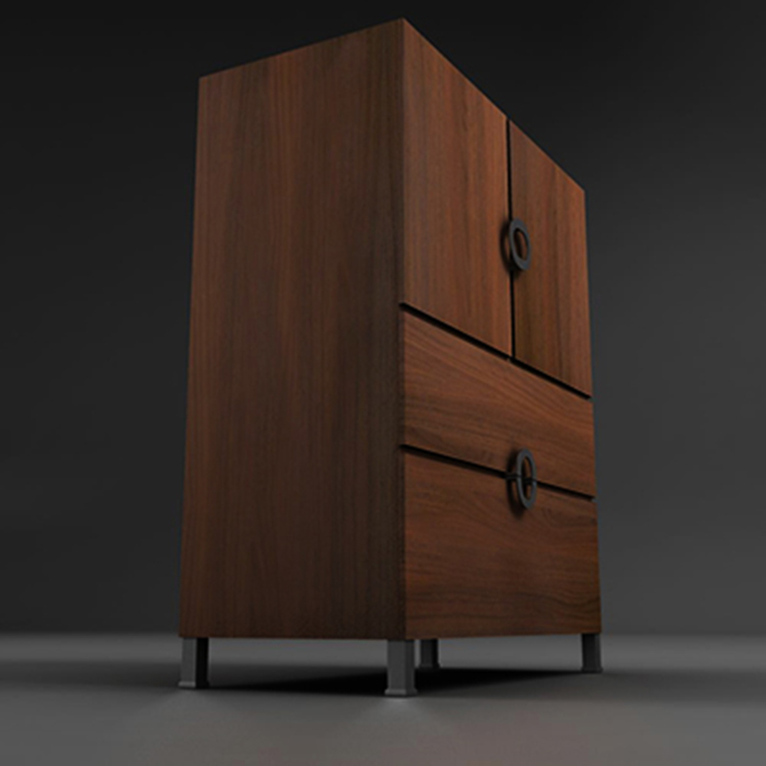 armoire cabinet 3d model 3ds max fbx ma mb obj 156003