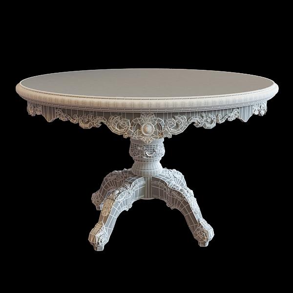 classic table 3d model 3ds max obj 117045