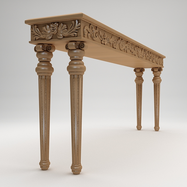 classical style console table 3d model max fbx texture obj 120982