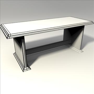 coffee table 3d model 3ds blend obj 103655
