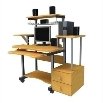 kompjuterski sto 3d model max 100641