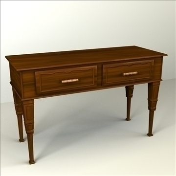 console table 3d model 3ds max lwo obj 104473