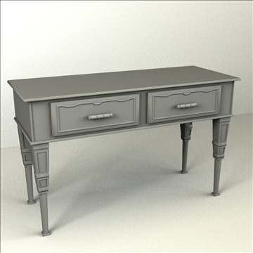 console table 3d model 3ds max lwo obj 104475