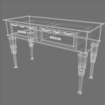console table 3d model 3ds max lwo obj 104476