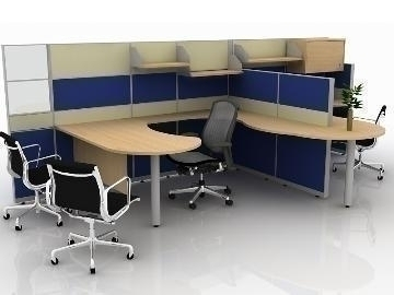 office cubicle design 3d model max 77178