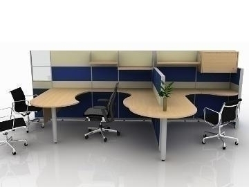 office cubicle design 3d model max 77181