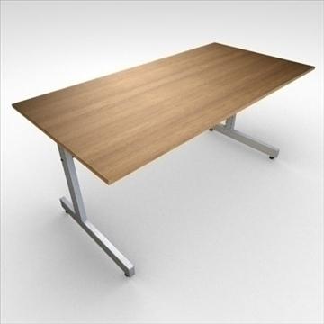 office-table 3d model 3ds dxf fbx c4d obj 85333