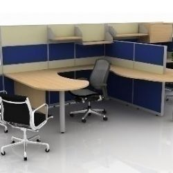 Office cubicle design ( 43.51KB jpg by shenthat )