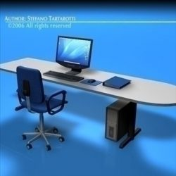 Office desk ( 65.3KB jpg by tartino )