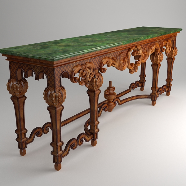ornate classical style table 3d model 3ds max fbx texture obj 120975
