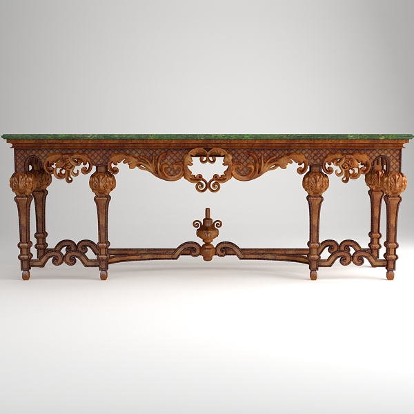 ornate classical style table 3d model 3ds max fbx texture obj 120976