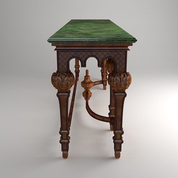 ornate classical style table 3d model 3ds max fbx texture obj 120977