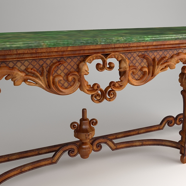ornate classical style table 3d model 3ds max fbx texture obj 120978