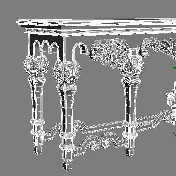 ornate classical style table 3d model 3ds max fbx texture obj 120979