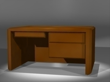 simple desk 3d model 3ds dxf lwo 81132