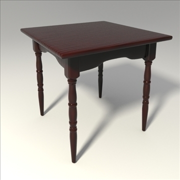 square table 3d model 3ds blend obj 103652