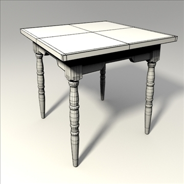 square table 3d model 3ds blend obj 103653