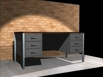steel office desk 3d model dxf 94321