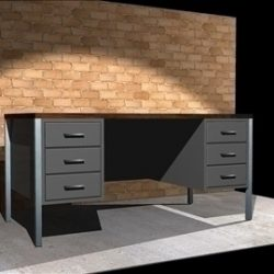 STEEL OFFICE DESK ( 63.53KB jpg by timzero4 )