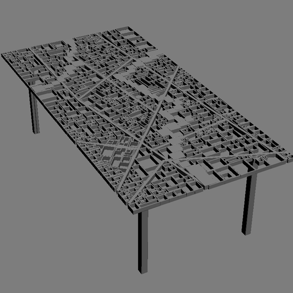 table new baghdad edra ezri tarazi 3d model max fbx obj 120855