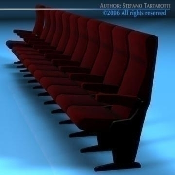 theatre seats 3d model 3ds dxf c4d obj 77885