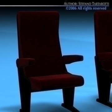 theatre seats 3d model 3ds dxf c4d obj 77886