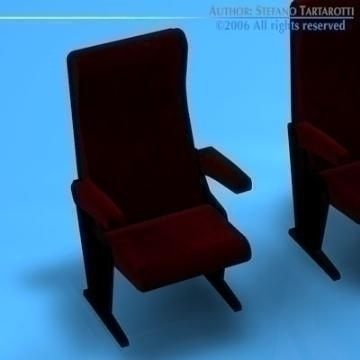 theatre seats 3d model 3ds dxf c4d obj 77887