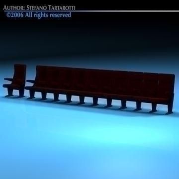 theatre seats 3d model 3ds dxf c4d obj 77890