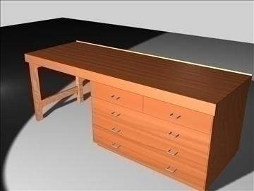 wooden desk 3d model max 96562