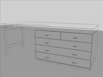 wooden desk 3d model max 96563