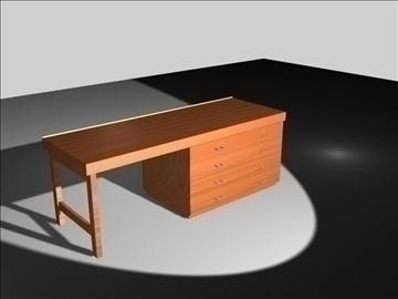 wooden desk 3d model max 96564
