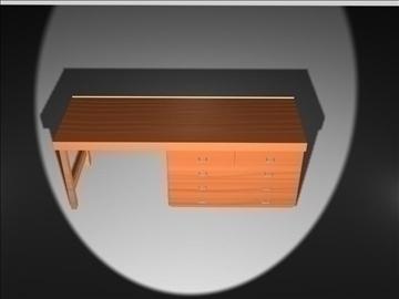 wooden desk 3d model max 96565