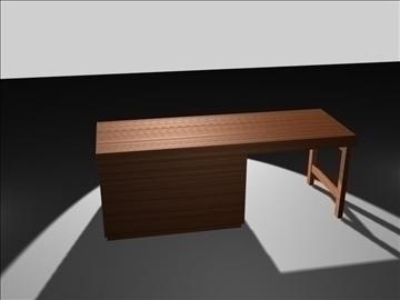 wooden desk 3d model max 96566
